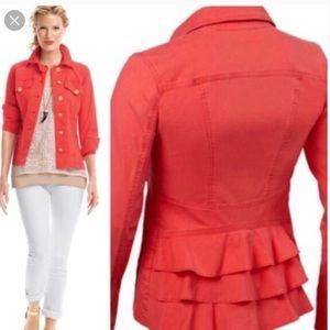 CABI Taylor Jack Vintage Lobster Red Jacket Sz M